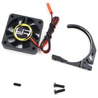 Yeah Racing Black Aluminium 1/8 Fan Mount Clamp w/ 40mm Cooling Fans