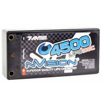 "nVision 7.4v 4500mAh 100C ""Shorty"" Hard Case LiPo Battery"