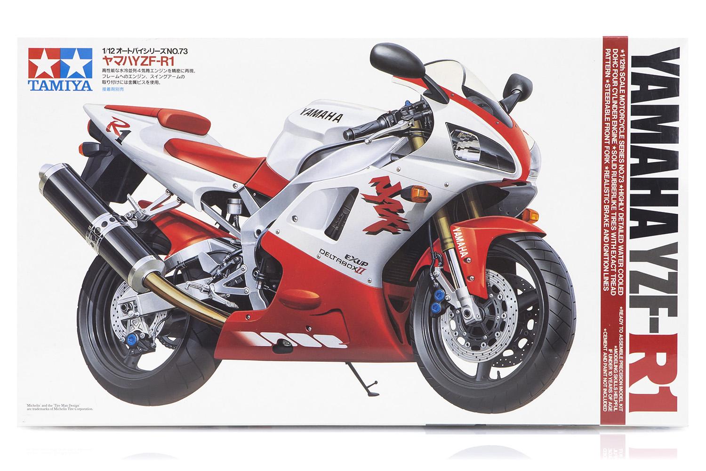 Image is loading Tamiya-1-12-Yamaha-YZF-R1-Motorcycle-14073